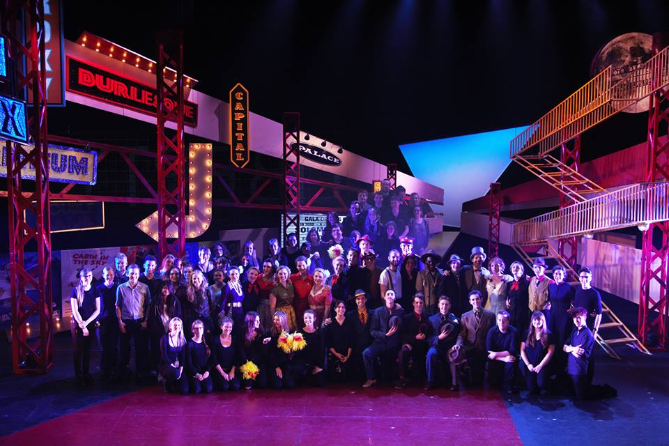 Cast and Crew Photo -  Guys and Dolls  - Silk Street Theatre.