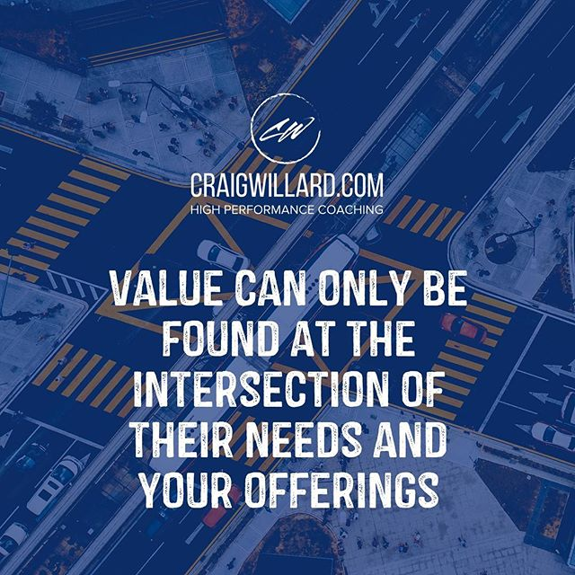 Value doesn't start with what you have to offer. Value starts with what others need and then providing them a solution to their needs. #instagood #instaquote #success #grow
