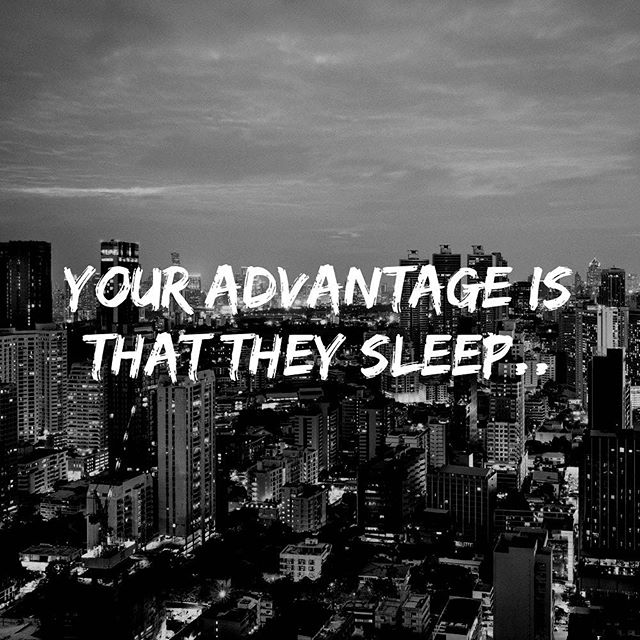 People spend more time thinking about what they want to do than actually doing it.. while they sleep, rest and think... it's your advantage to act! #success #entrepreneurship