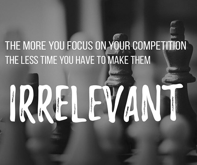 #Fear is brutal on ones ability to make sound decisions.. all too often, #energy is spent on seeing what your #competitors are doing as if being like them will make you better... 🛑 watching them and start focusing on what you can do better and where you can grow.. doing this will make them #irrelevant.. #entrepreneur #business #growth