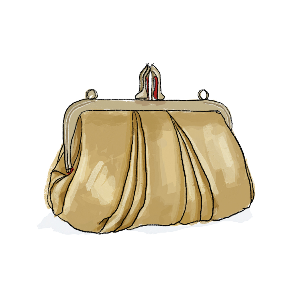 Christian Louboutin Mini Loubi Lula Clutch Gold