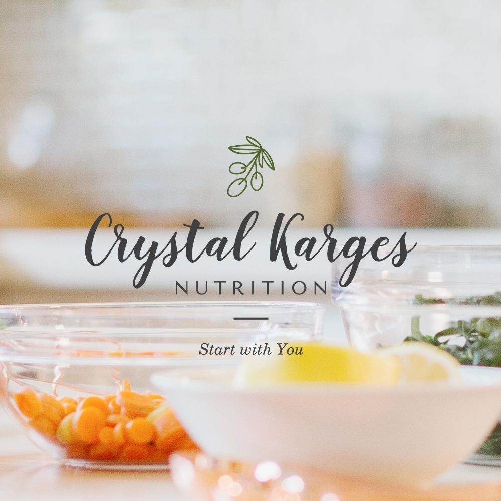 CRYSTAL KARGES NUTRITION    Brand Identity / Brand Design / Web Design + Development