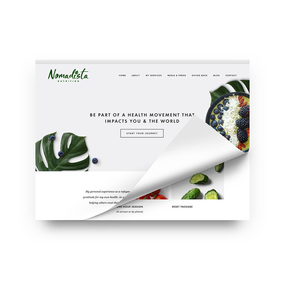 NOMADISTA NUTRITION    Web Design + Development