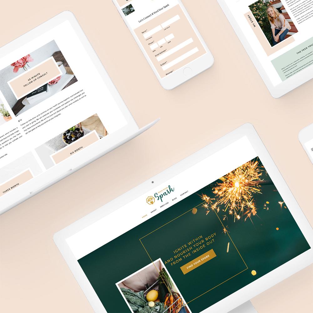 FEED YOUR SPARK    Brand Identity / Brand Design / Web Design + Development