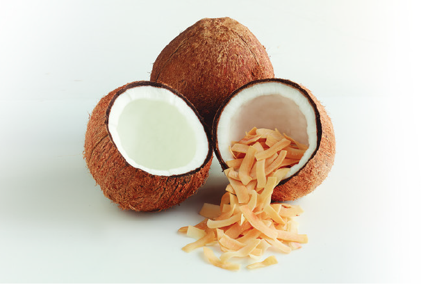 Dang Foods sources its coconuts from Thailand at 8 months maturity, when founder Vincent Kitirattragarn says more meat and less water makes it better suited for chips. PHOTO: DANG FOODS