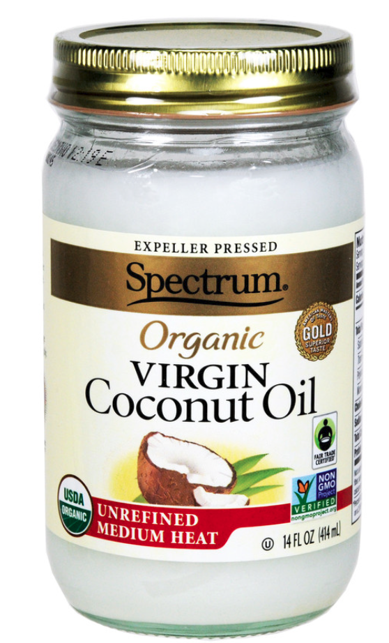 Spectrum coconut oil can be found in both food section and the beauty isle, as some people use it as a hair conditioner and to wipe off makeup. PHOTO: THE HAIN CELESTIAL GROUP, INC.