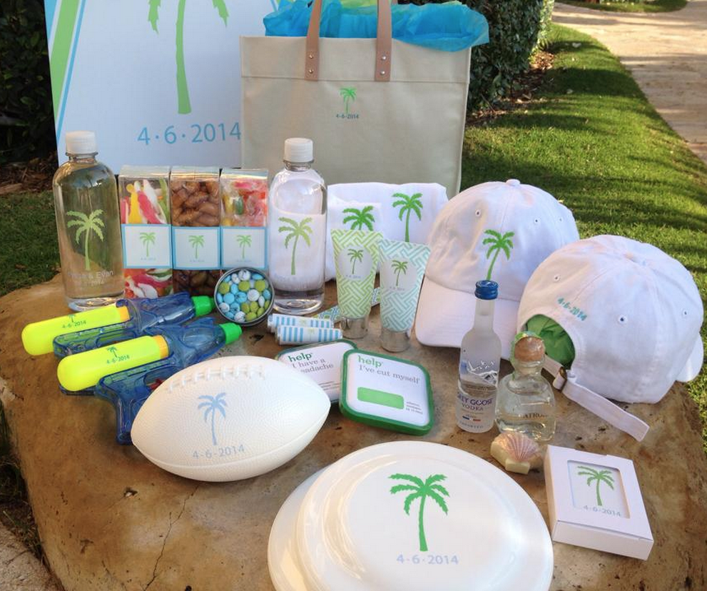 PALM BEACH WEDDING WELCOME BAG