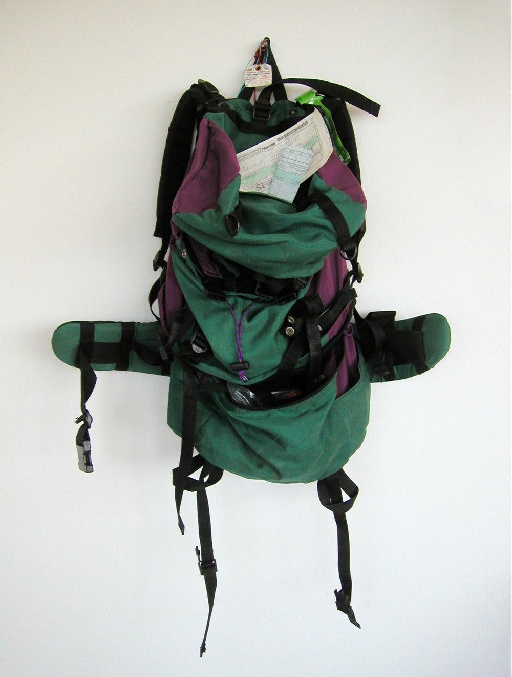 Claudia Grom, 2015,  Rucksack | Backpack,  Nylon | nylon, 100 cm x 30 cm x 25 cm
