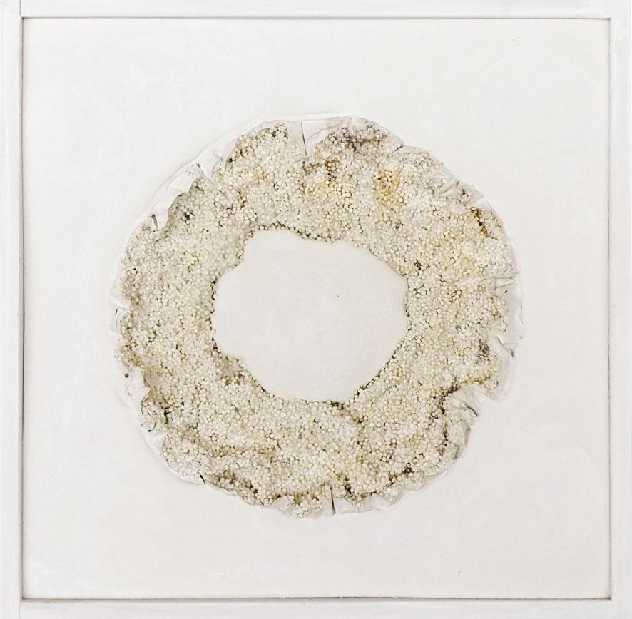 Quadratserie_04   2014  30 cm × 30 cm  Gips, Tapioca, Holz | plaster, tapioca, wood  350,– €