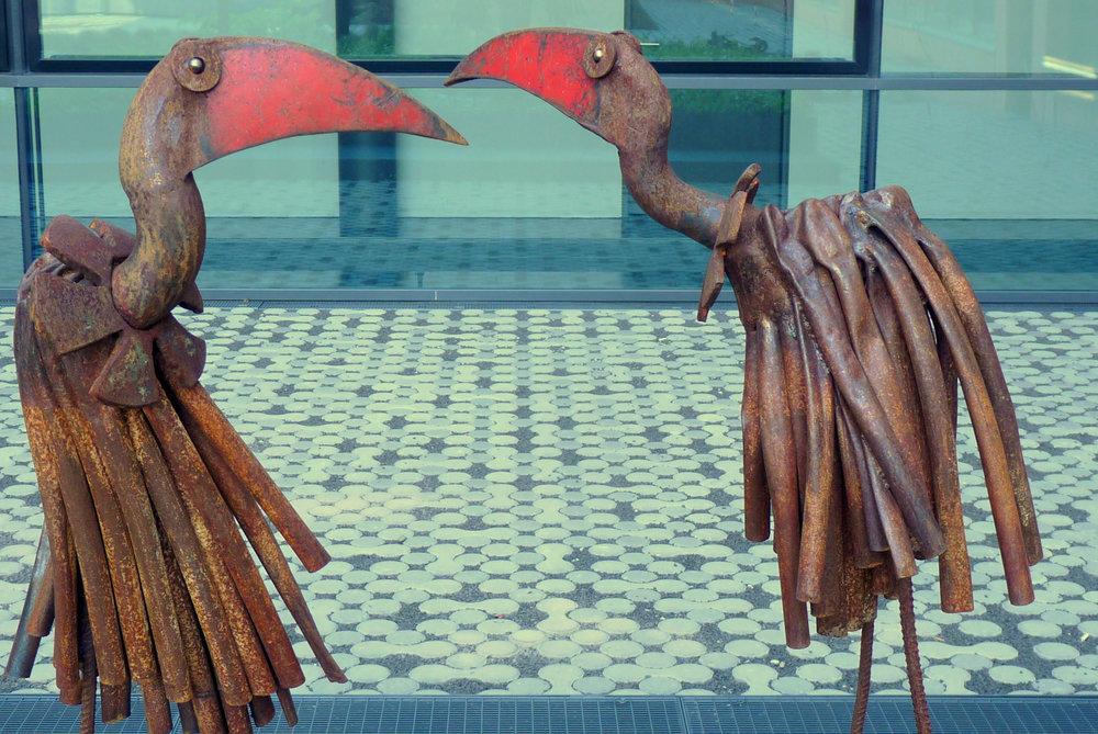 Chris Kircher, bird sculptures, Campus Riedberg, Frankfurt University