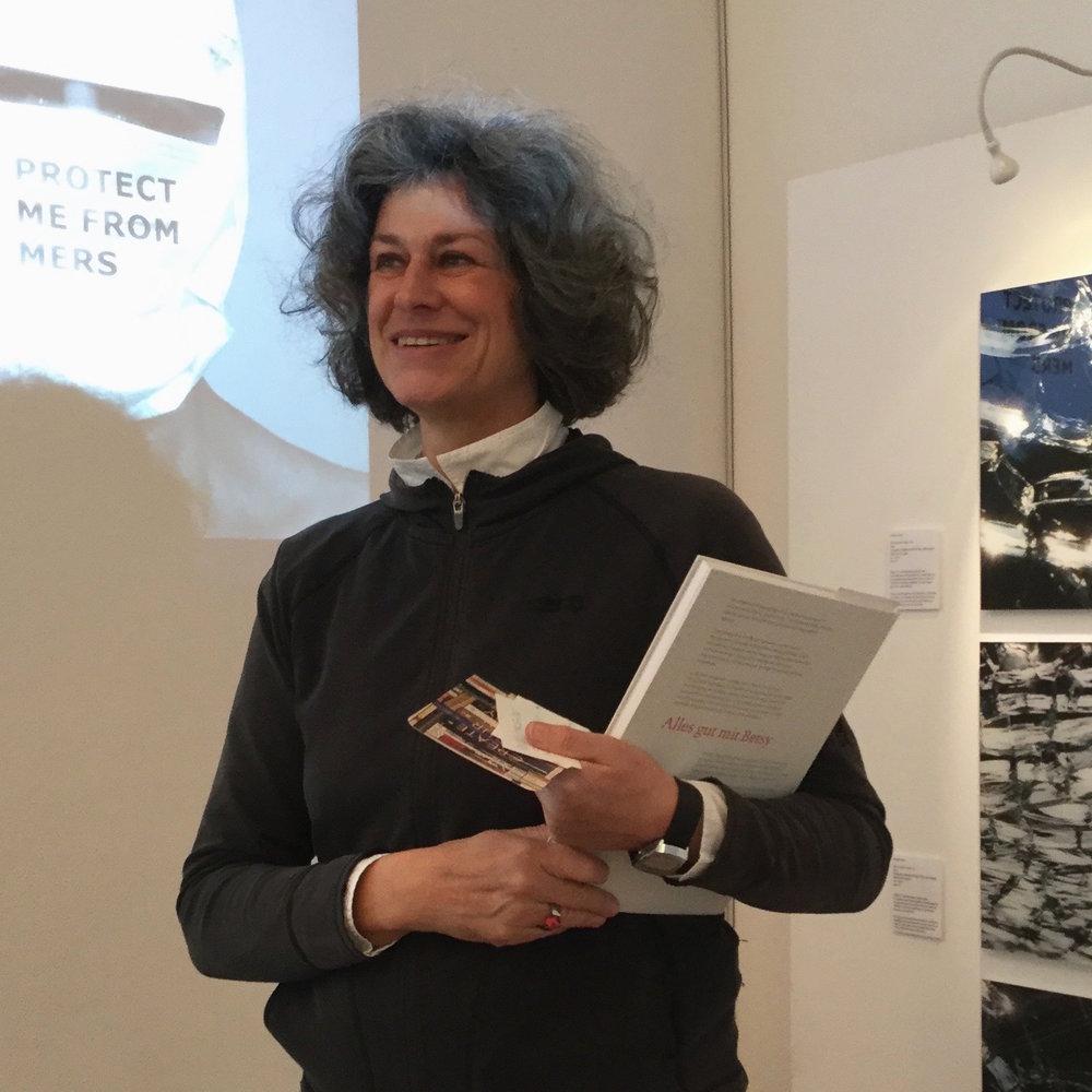 Claudia Grom, artist talk at grassgrün (Image: Karin Nadela)