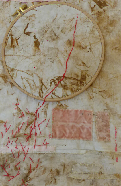 Chris Kircher, beautiful inside 8 on white plinth on wall, Detail, w+t.jpg