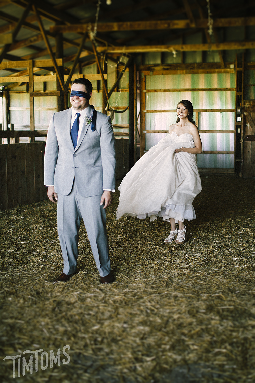 First Look Blindfold Wedding