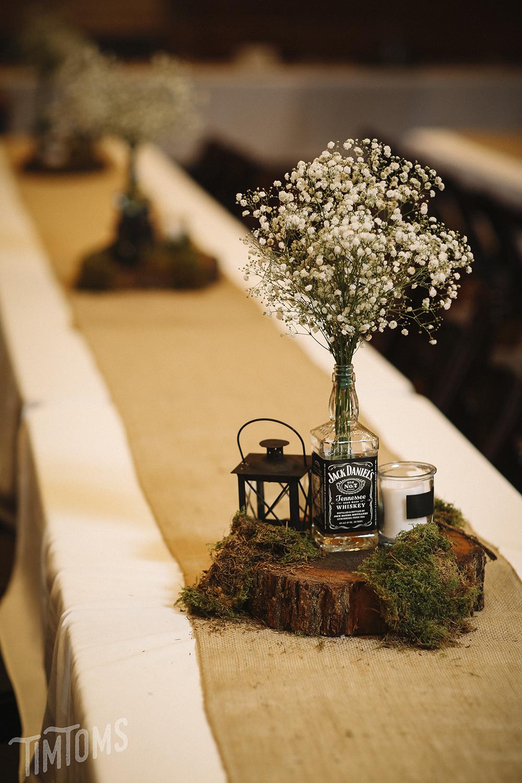 Jack Daniels Wedding Decoration Placement