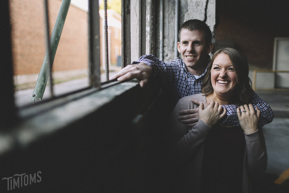 Downtown Joplin Engagement Photography