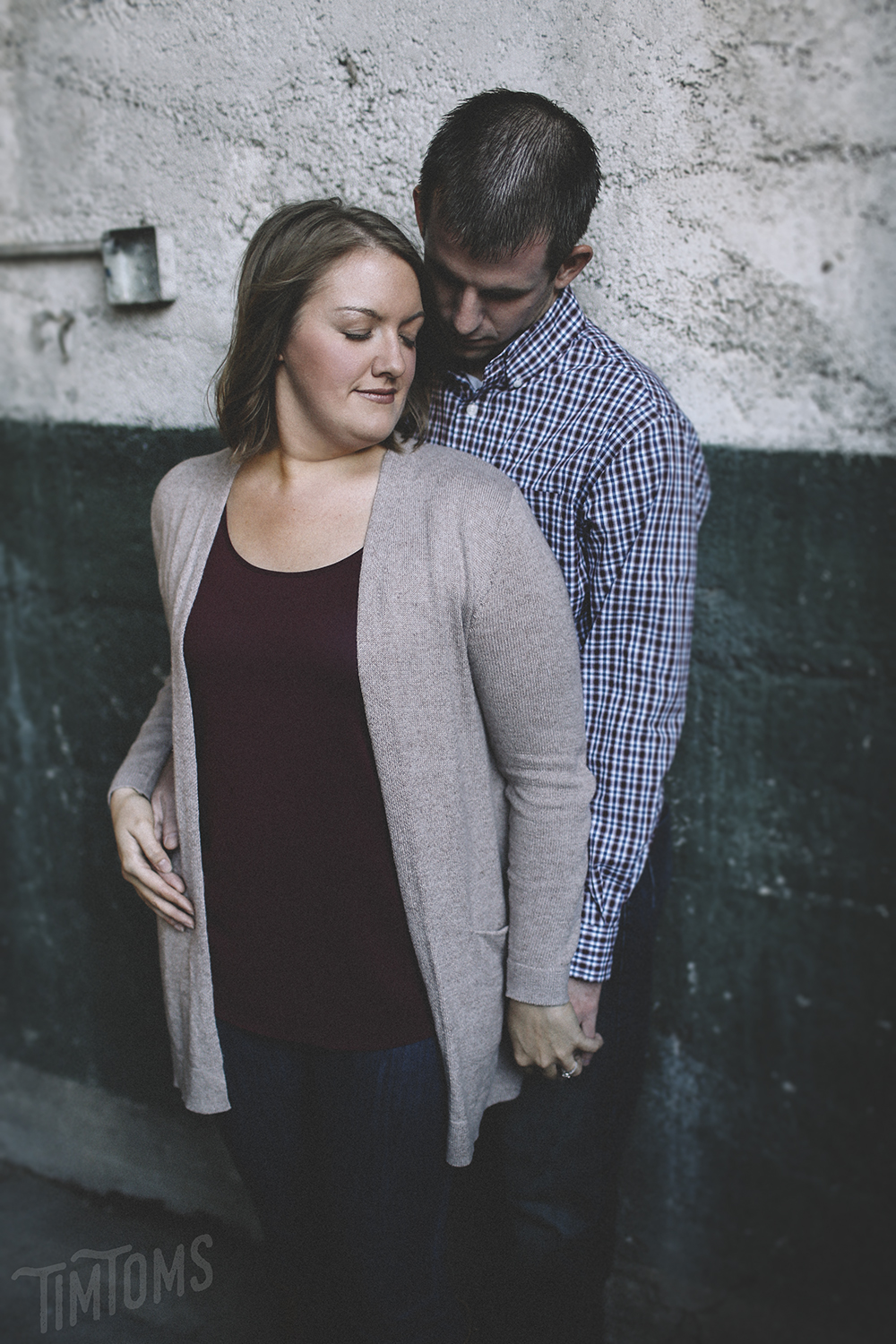 Parking Garage Downtown Engagement Photography Session