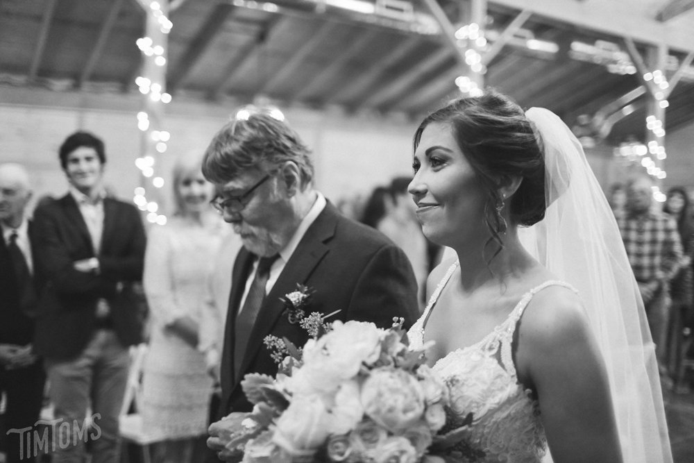 Father Daughter Walk down aisle wedding day