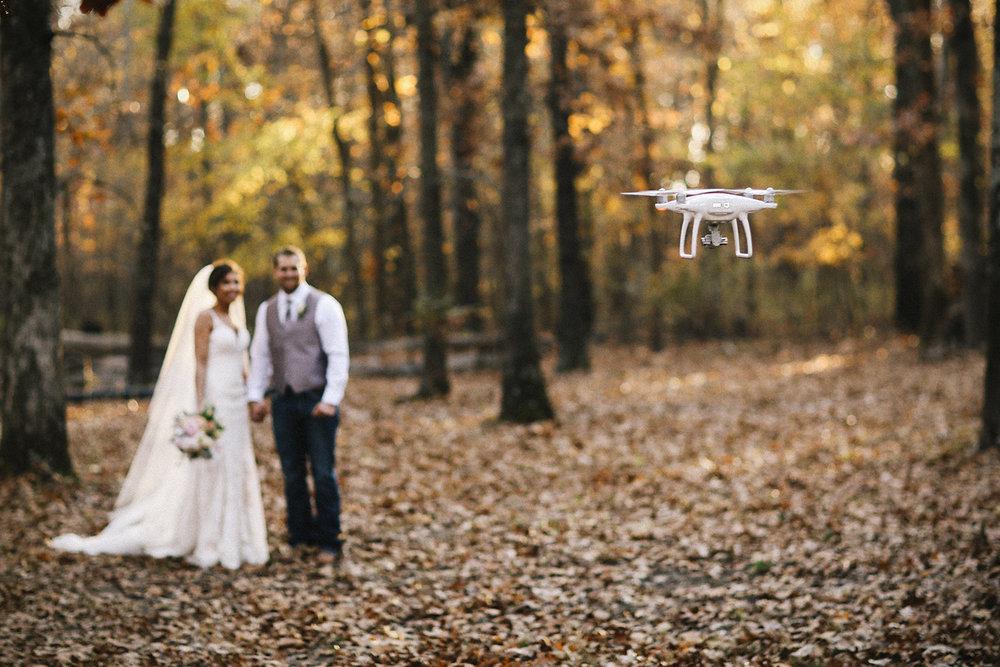 Drone Photography Bride & Groom
