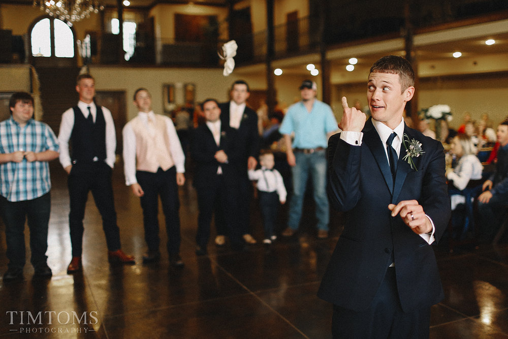 Garter Toss Wedding