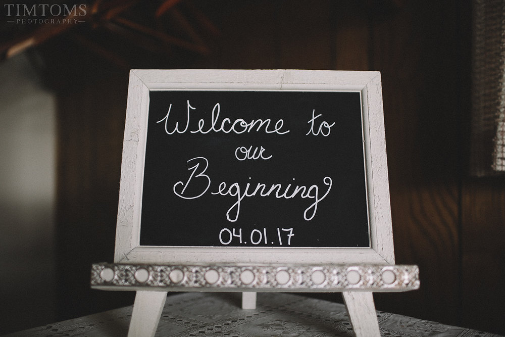 Wedding Entry Sign