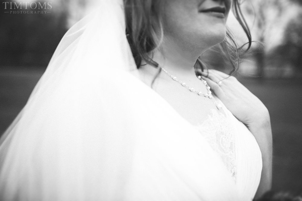 Black White Bridal Portrait