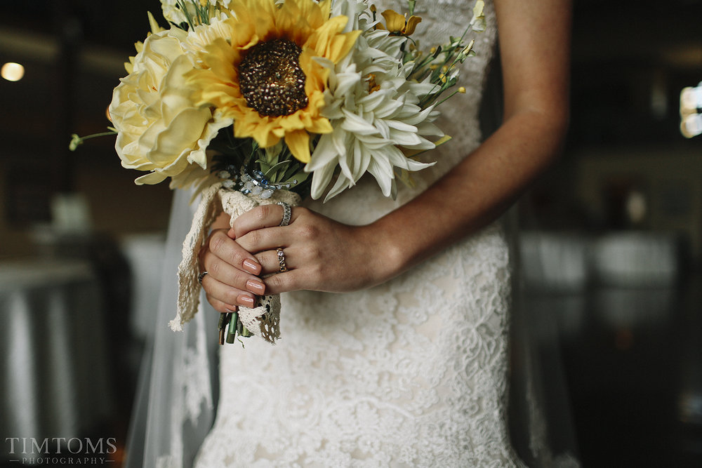 Bridal Floral Bouquet Sunflowers