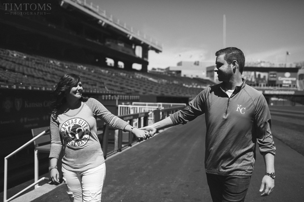 Kaufmann Stadium MLB Engagement Photo Photography Shoot