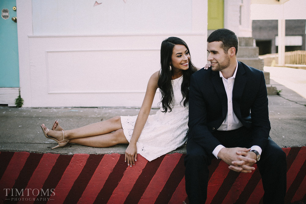 Downtown Joplin Missouri Engagement Shoot