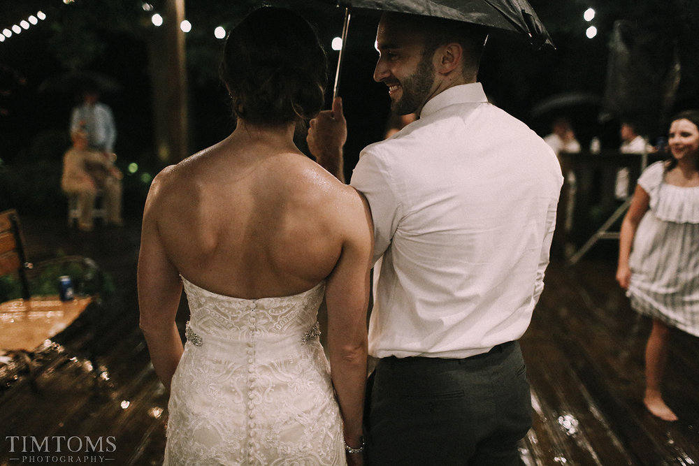 Bride Groom Umbrella Wedding Rain