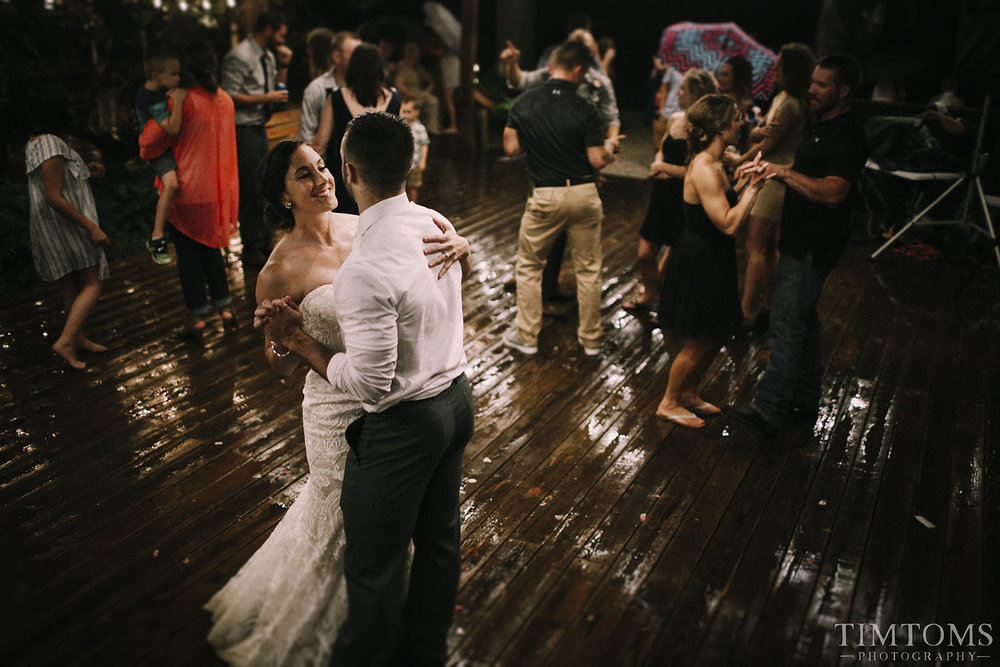 Bride Groom Umbrella Wedding Rain First Dance