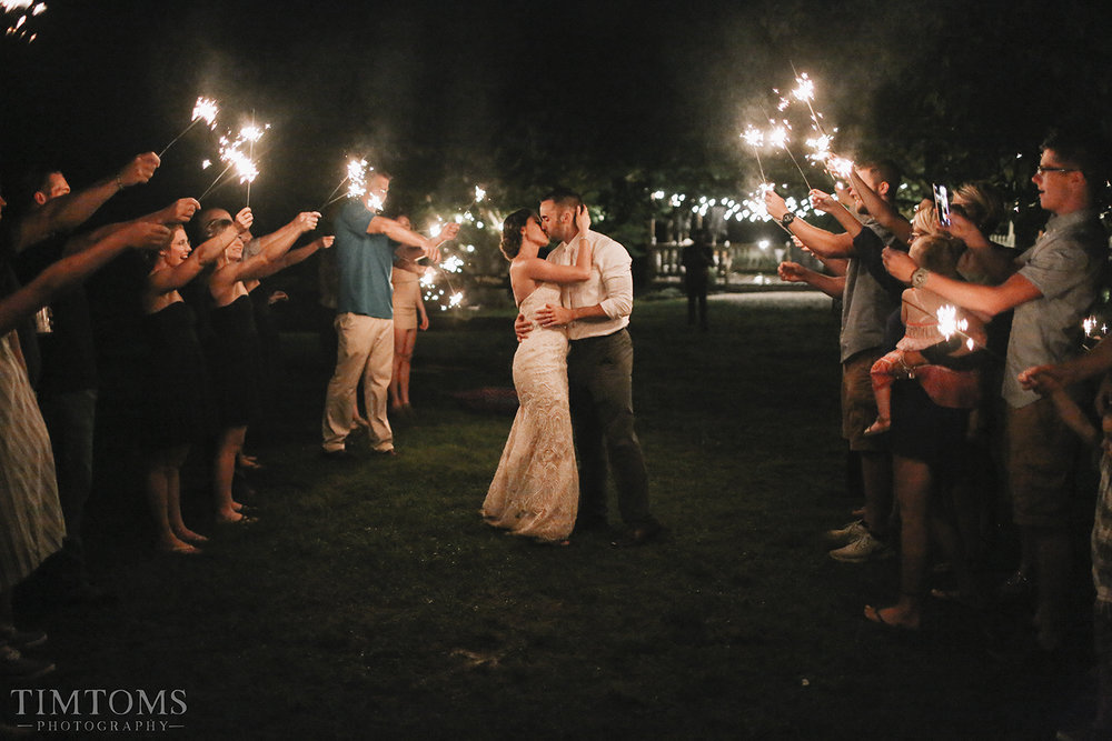 Sparkler Exit Wedding