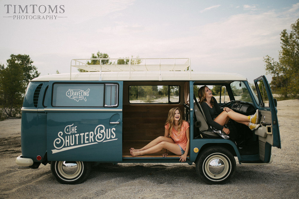 Senior Picture Girl VW Bus Joplin Missouri Photographer