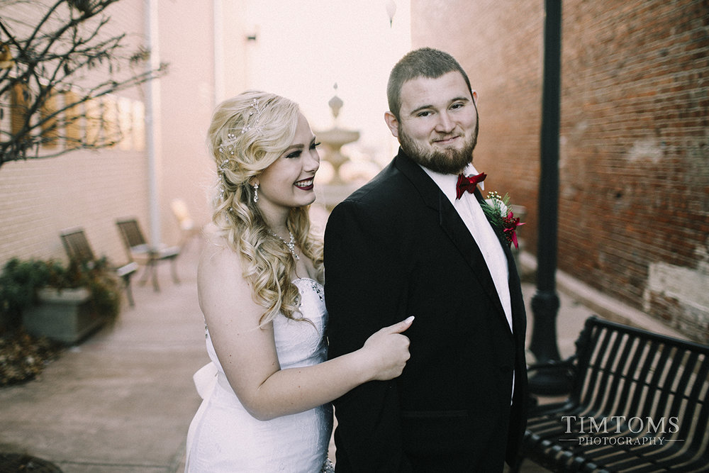 Downtown Miami Oklahoma Wedding