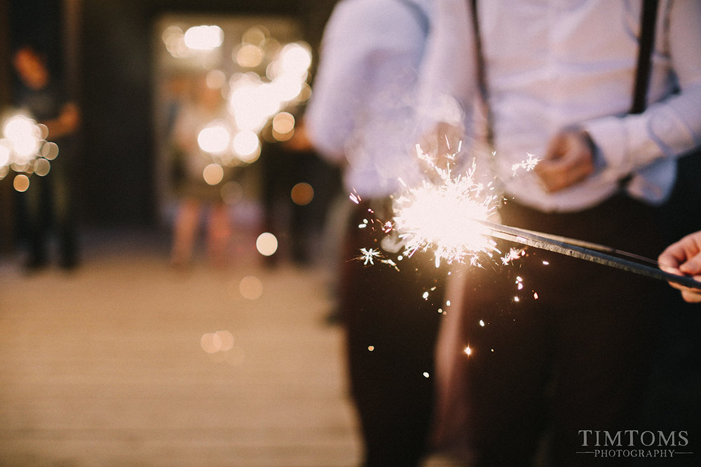 joplin missouri wedding photographer sparkler exit