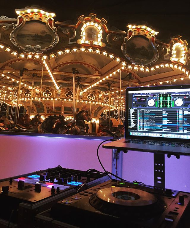 The infamous @janescarousel venue 🎠 #djlife #janescarousel #upscalesound #event #party