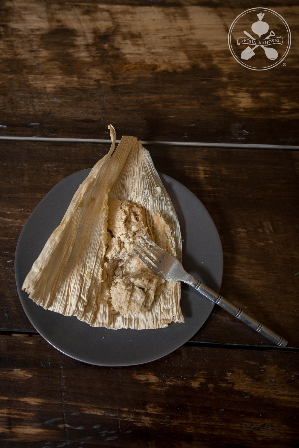 Vegan, GF jackfruit tamales from The Spoon + Shovel