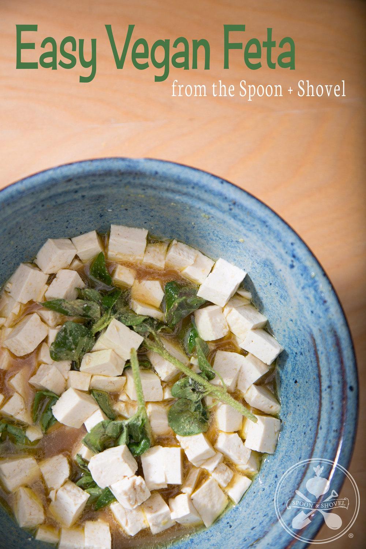 Easy vegan feta from The Spoon + Shovel