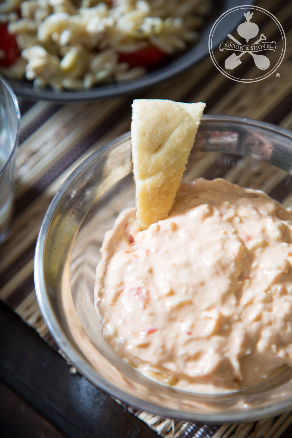 Sweet & hot pepper relish dip w/ Tofutti cream cheese