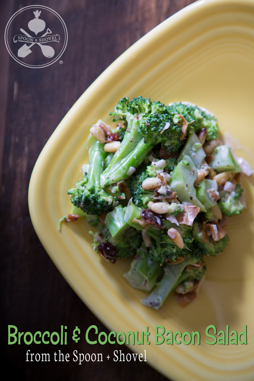 Broccoli and coconut bacon salad from The Spoon + Shovel