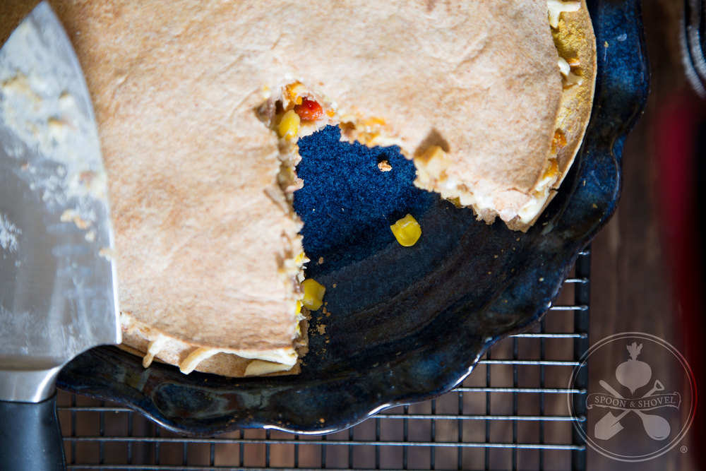 Tex-Mex tortilla pie from The Spoon + Shovel