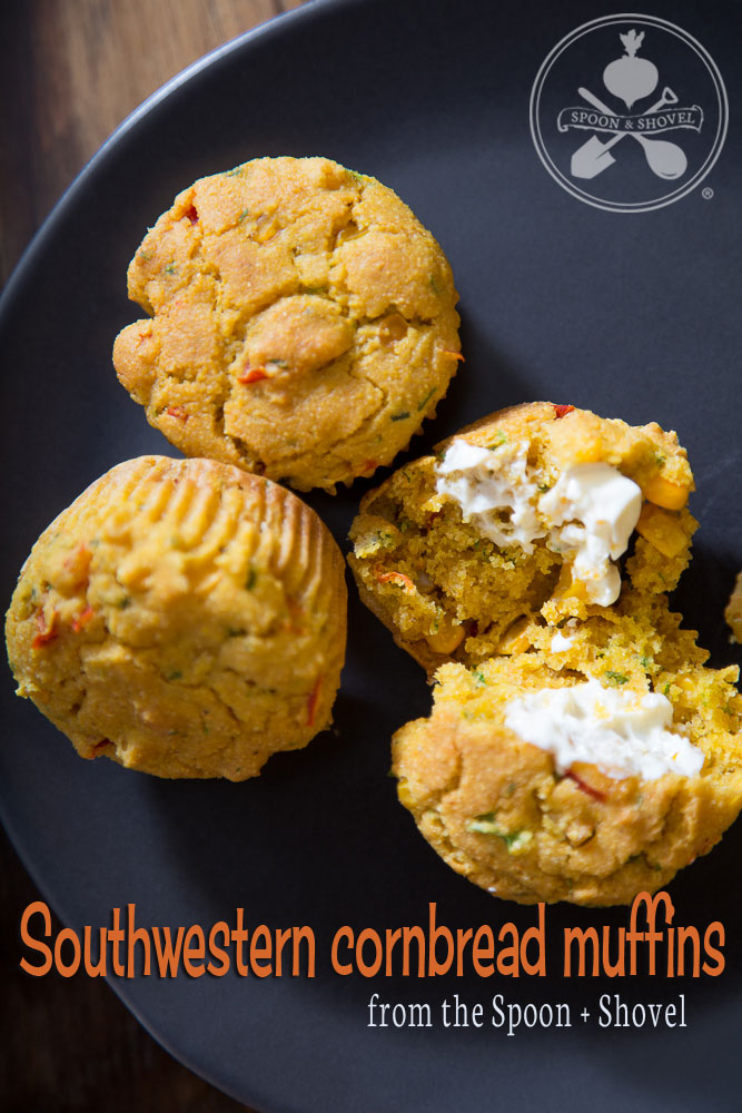Southwestern cornbread muffins from The Spoon + Shovel