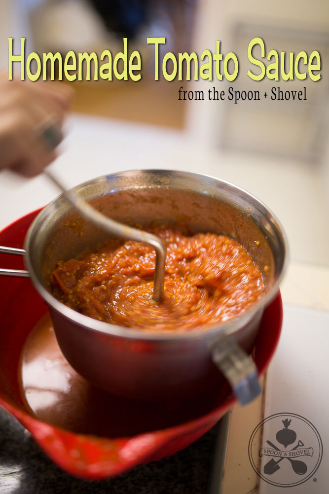 Easy homemade tomato sauce from The Spoon + Shovel