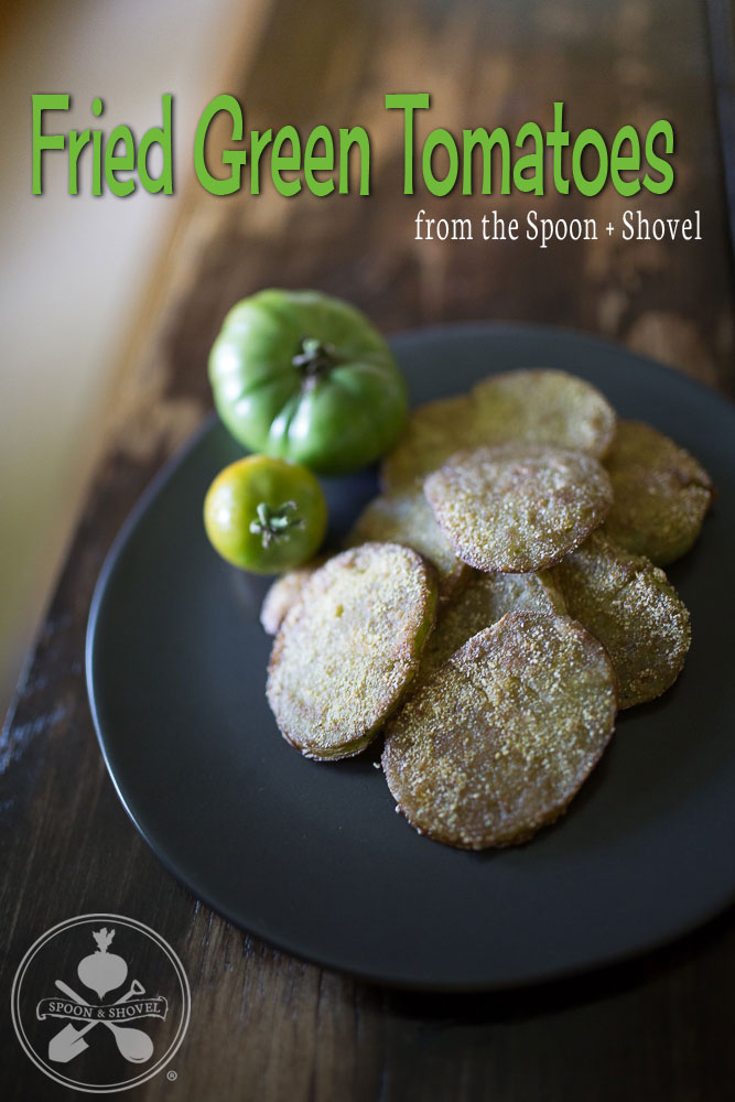 Pan-fried green tomatoes from The Spoon + Shovel