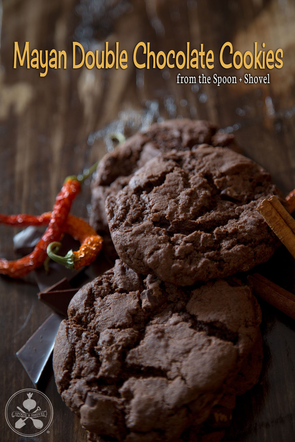 Vegan Mayan double chocolate chip cookies from The Spoon + Shovel