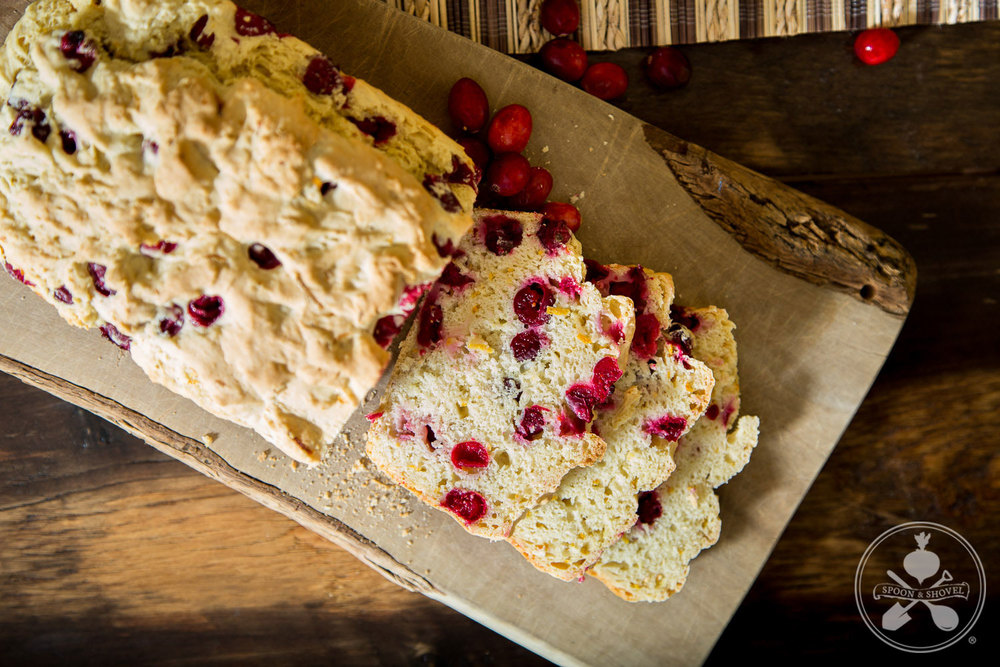 Vegan cranberry orange bread from The Spoon + Shovel