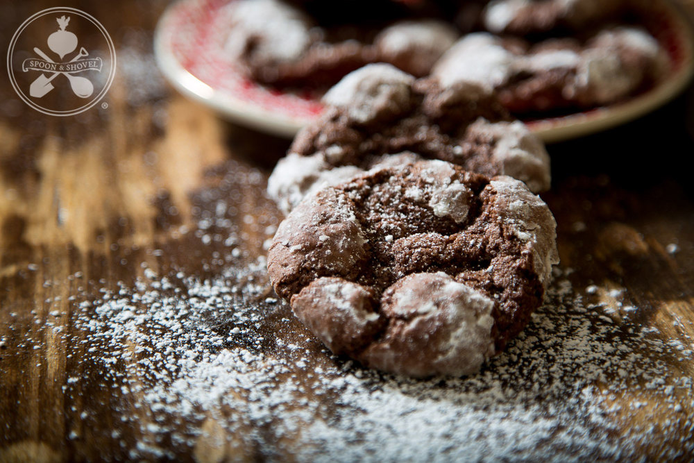 Vegan chocolate crinkle cookies from The Spoon + Shovel