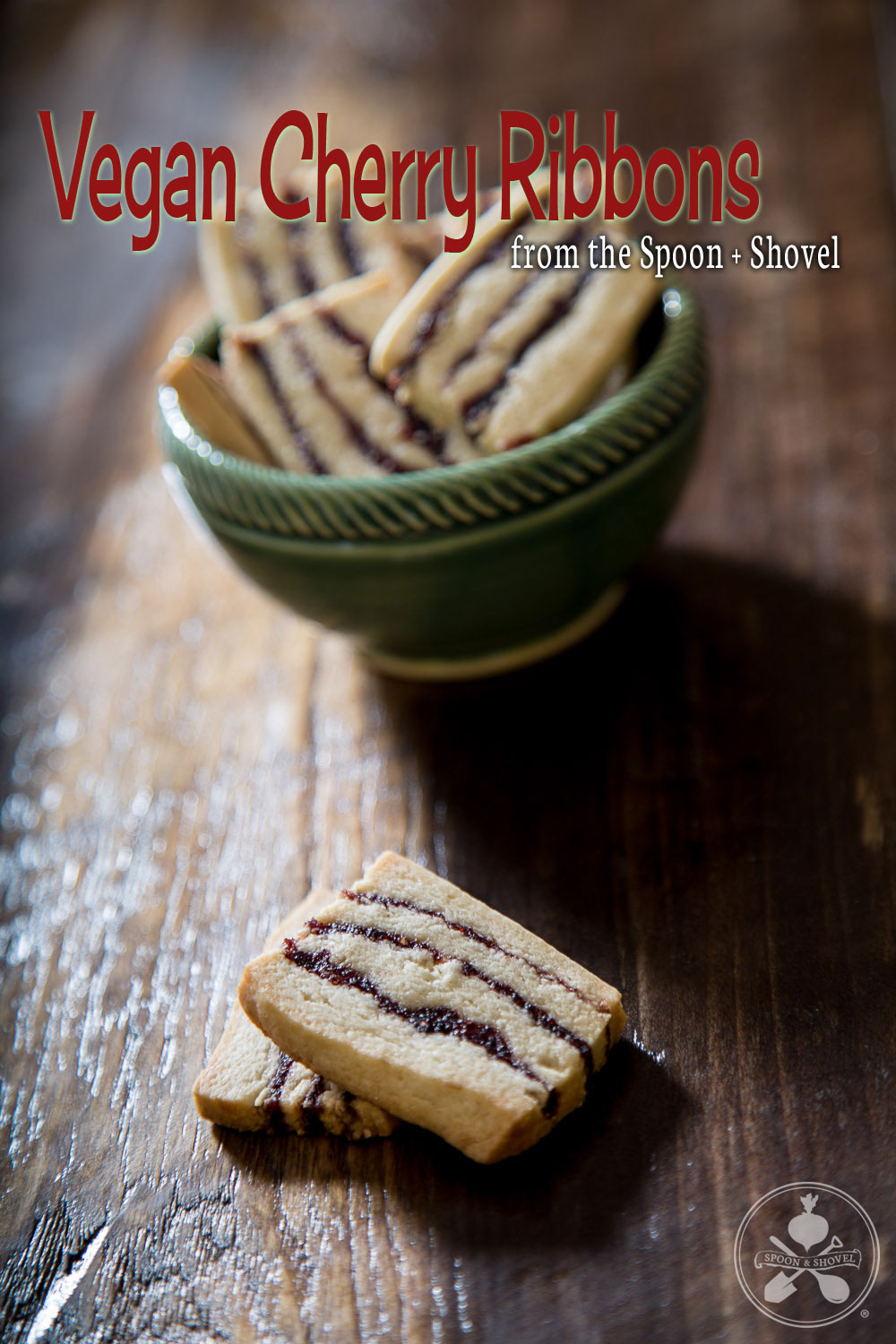 Vegan cherry ribbon cookies from The Spoon + Shovel