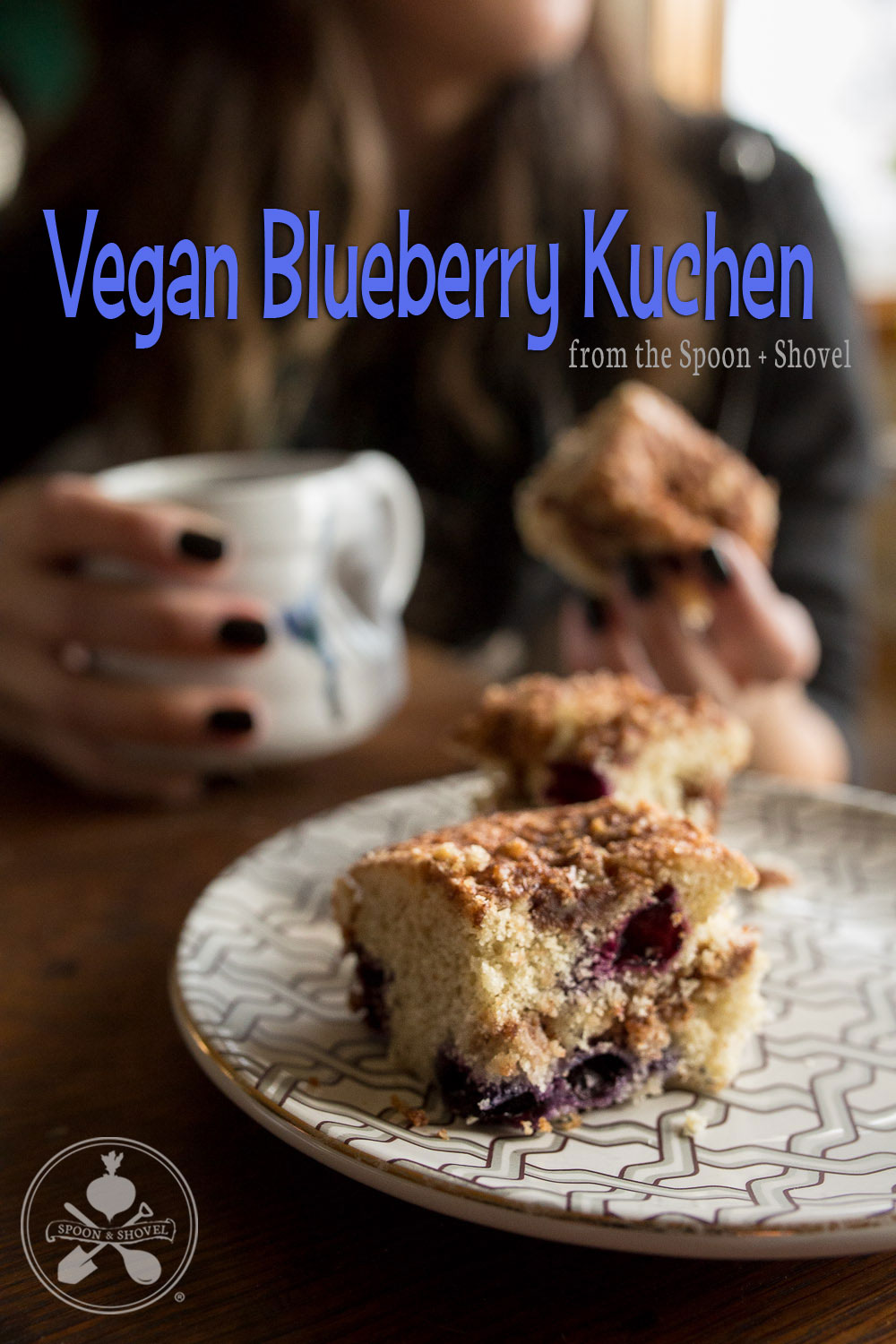 Vegan blueberry kuchen from The Spoon + Shovel