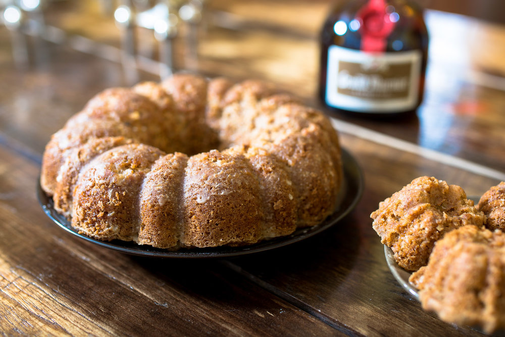 Vegan orange spice bundt cakes w/ Grand Marnier glaze from The Spoon + Shovel