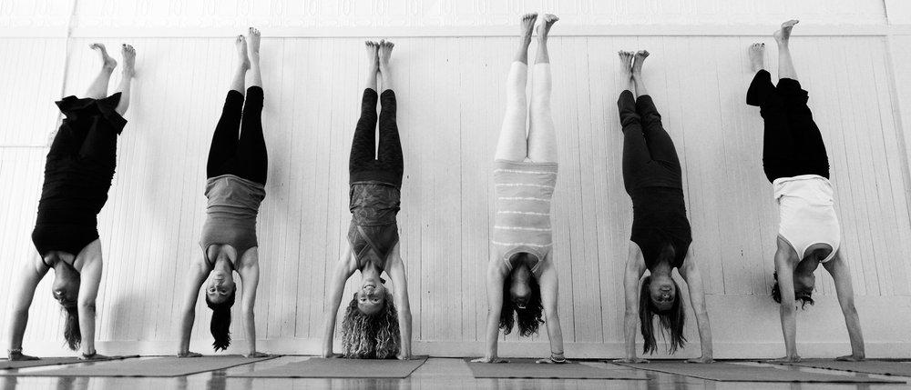 teens handstands